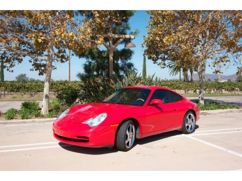 Guards Red Porsche 911 Carrera Coupe.  Click to enlarge.