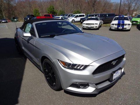 Ingot Silver Metallic Ford Mustang EcoBoost Premium Convertible.  Click to enlarge.