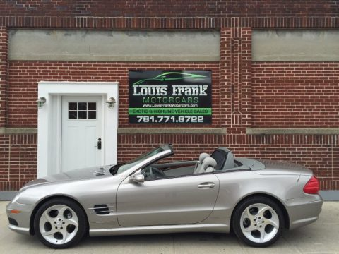 Pewter Metallic Mercedes-Benz SL 500 Roadster.  Click to enlarge.