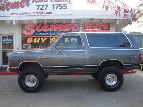 Charcoal Pearl Metallic Dodge Ramcharger LE 150 4x4. Click to enlarge ...