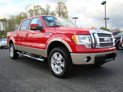 Bright Red Ford F Lariat Supercrew X Click To Enlarge