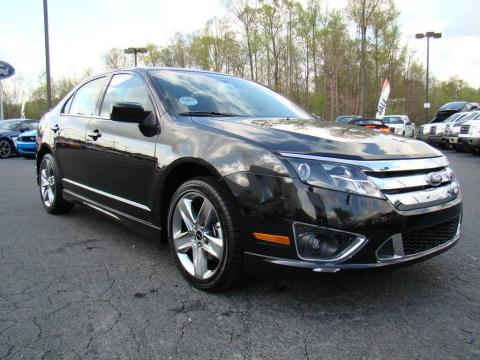 Tuxedo Black Metallic 2010 Ford Fusion Sport AWD with Charcoal Black/Sport