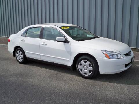 Taffeta White 2005 Honda Accord LX Sedan with Ivory interior Taffeta White