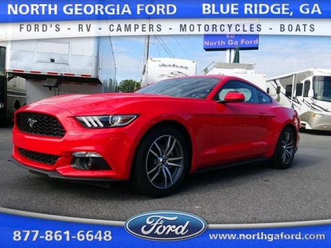 Race Red Ford Mustang EcoBoost Coupe.  Click to enlarge.