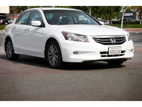 White Orchid Pearl Honda Accord EX V6 Sedan.  Click to enlarge.