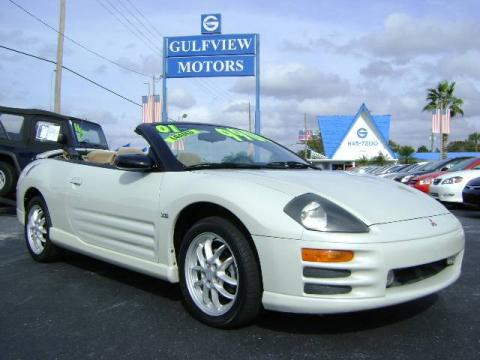 Dover White Pearl 2001 Mitsubishi Eclipse Spyder GT with Tan interior Dover