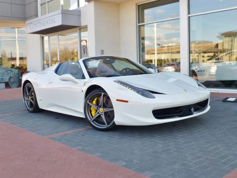 Bianco Avus (White) Ferrari 458 Italia.  Click to enlarge.