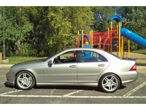 Desert Silver Metallic Mercedes-Benz C 55 AMG Sedan.  Click to enlarge.