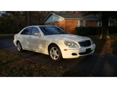 Alabaster White Mercedes-Benz S 500 Sedan.  Click to enlarge.