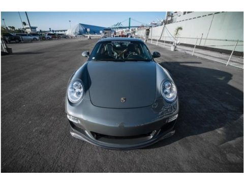 Meteor Grey Metallic Porsche 911 Turbo S Coupe.  Click to enlarge.