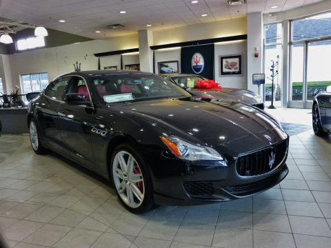 Nero Ribelle (Black Metallic) Maserati Quattroporte GTS.  Click to enlarge.