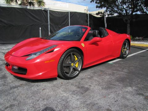 Rosso Corsa (Red) Ferrari 458 Spider.  Click to enlarge.