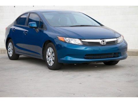 Dyno Blue Pearl Honda Civic LX Sedan.  Click to enlarge.