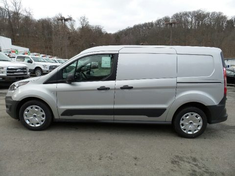 Silver Ford Transit Connect XL Cargo Van Extended.  Click to enlarge.
