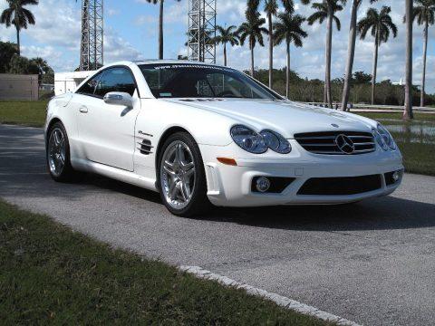 Alabaster White Mercedes-Benz SL 55 AMG Roadster.  Click to enlarge.