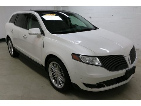 White Platinum Lincoln MKT EcoBoost AWD.  Click to enlarge.