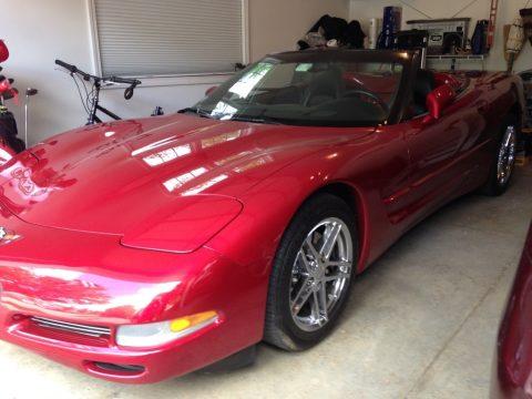 Magnetic Red II Metallic Chevrolet Corvette Convertible.  Click to enlarge.