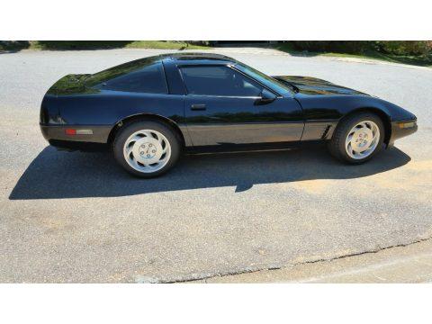 Black Chevrolet Corvette Coupe.  Click to enlarge.