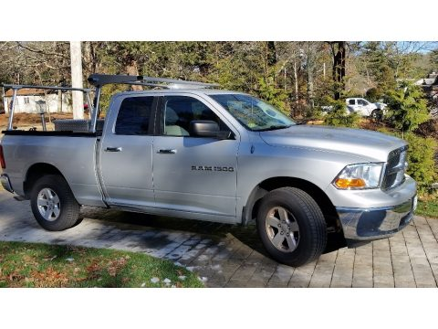 Bright Silver Metallic Dodge Ram 1500 SLT Quad Cab 4x4.  Click to enlarge.