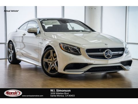 designo Diamond White Metallic Mercedes-Benz S 63 AMG 4Matic Coupe.  Click to enlarge.