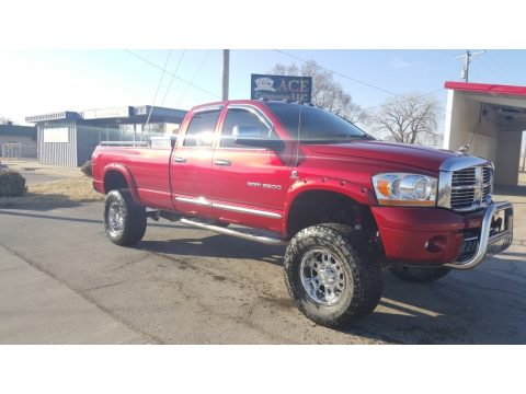 Inferno Red Crystal Pearl Dodge Ram 2500 Laramie Quad Cab 4x4.  Click to enlarge.