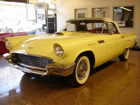 Inca Gold Ford Thunderbird Convertible.  Click to enlarge.