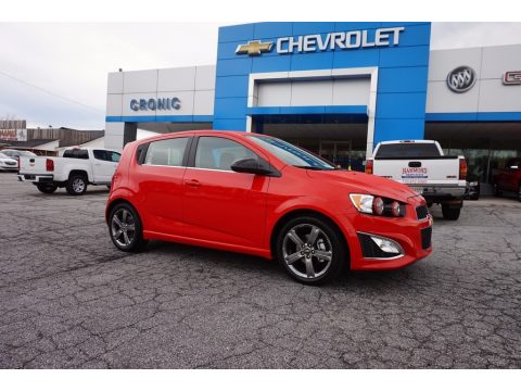 Red Hot Chevrolet Sonic RS Hatchback.  Click to enlarge.