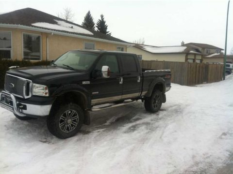 Black Ford F350 Super Duty Lariat Crew Cab 4x4.  Click to enlarge.