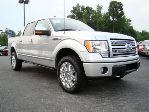 Brilliant Silver Metallic 2009 Ford F150 Platinum SuperCrew 4x4 with Sienna