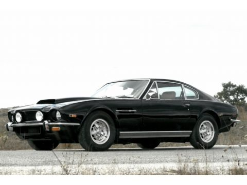 Black Aston Martin V8 Vantage Coupe.  Click to enlarge.