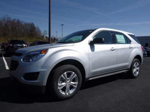 Silver Ice Metallic Chevrolet Equinox LS AWD.  Click to enlarge.
