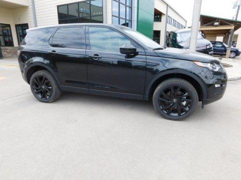 Santorini Black Metallic Land Rover Discovery Sport HSE Luxury 4WD.  Click to enlarge.
