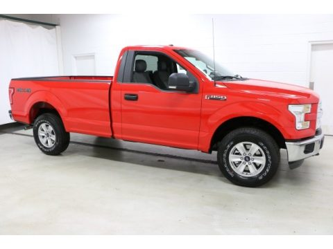 Race Red Ford F150 XL Regular Cab 4x4.  Click to enlarge.