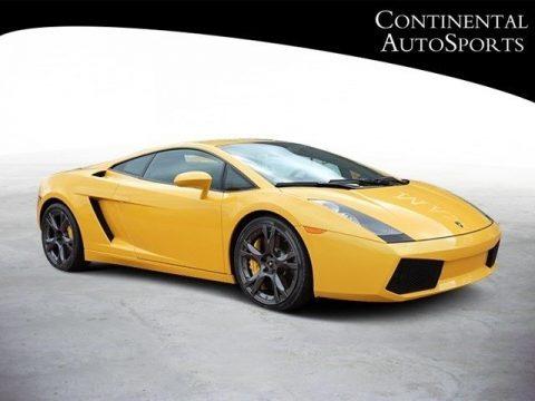 Giallo Halys (Yellow) Lamborghini Gallardo Coupe.  Click to enlarge.