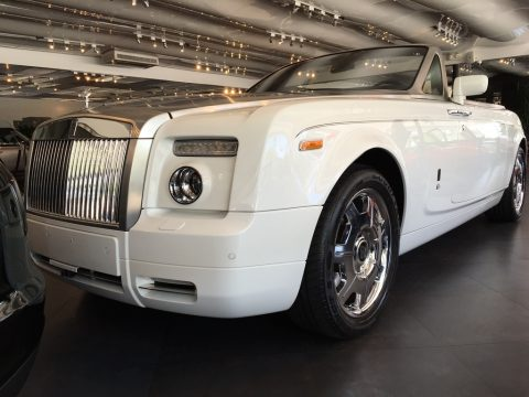 English White Rolls-Royce Phantom Drophead Coupe .  Click to enlarge.