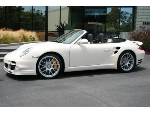 Carrara White Porsche 911 Turbo S Cabriolet.  Click to enlarge.