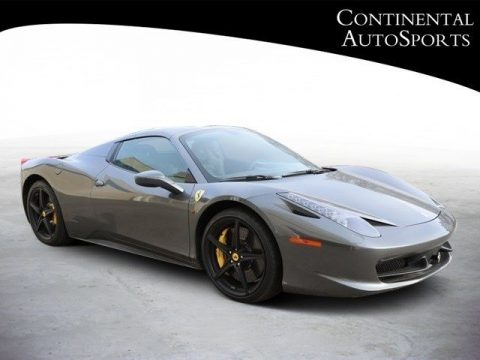 Grigio Silverstone (Dark Grey Metallic) Ferrari 458 Italia.  Click to enlarge.