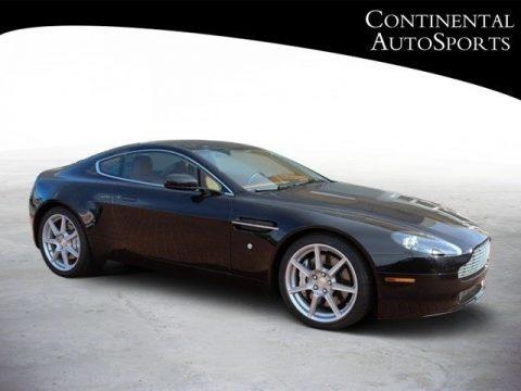 Black Aston Martin V8 Vantage Coupe.  Click to enlarge.