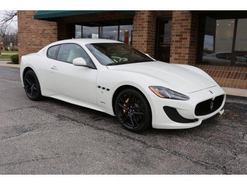 Bianco Eldorado Maserati GranTurismo Sport Coupe.  Click to enlarge.