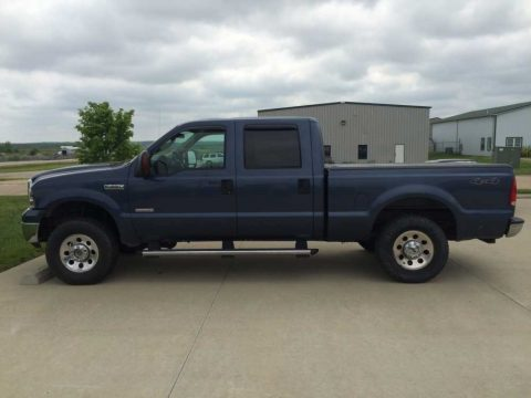 True Blue Metallic Ford F250 Super Duty XLT Crew Cab 4x4.  Click to enlarge.