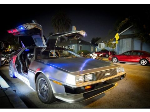 Stainless Steel Delorean DMC-12 .  Click to enlarge.