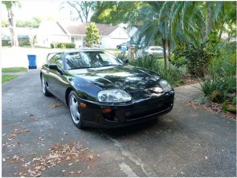 Black Toyota Supra Turbo Coupe.  Click to enlarge.