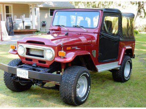 Freeborn Red Toyota Land Cruiser FJ40.  Click to enlarge.