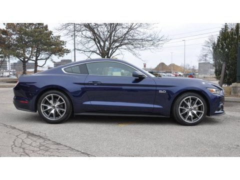 50th Anniversary Kona Blue Metallic Ford Mustang 50th Anniversary GT Coupe.  Click to enlarge.