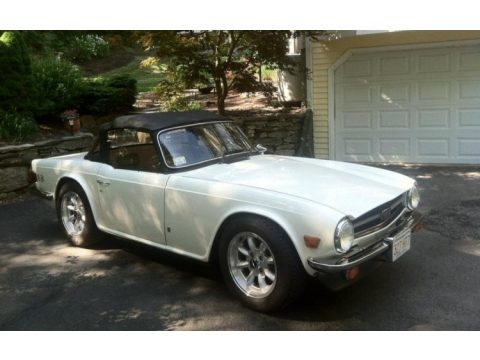 New English White Triumph TR6 Roadster.  Click to enlarge.