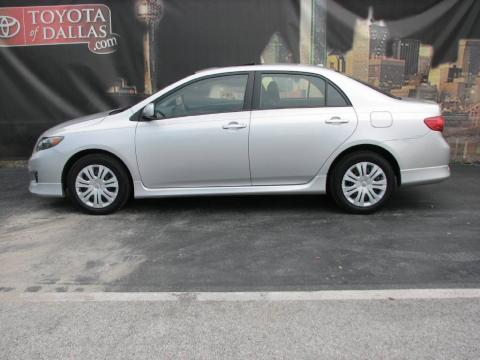 Classic Silver Metallic Toyota Corolla S.  Click to enlarge.