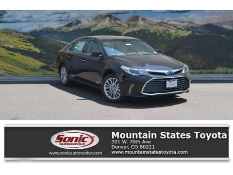 Midnight Black Metallic Toyota Avalon Hybrid Limited.  Click to enlarge.