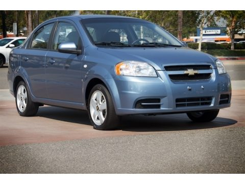 Icelandic Blue Chevrolet Aveo LT Sedan.  Click to enlarge.