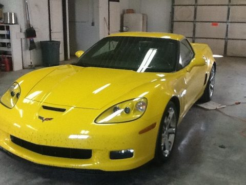 Velocity Yellow Chevrolet Corvette Grand Sport Coupe.  Click to enlarge.