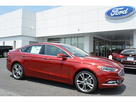 Ruby Red Ford Fusion Titanium AWD.  Click to enlarge.